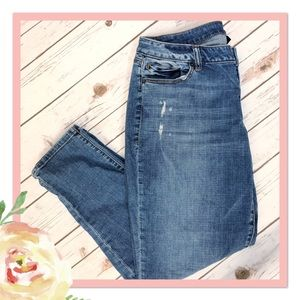 NWOT Venezia Lane Bryant Distressed Skinny Jeans